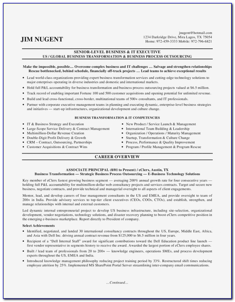Executive Resume Writing Service Mn
