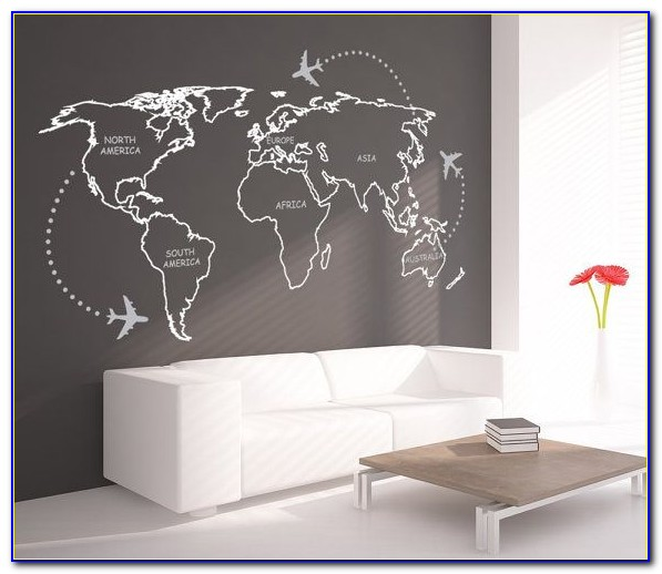 Extra Large World Map Wall Decal