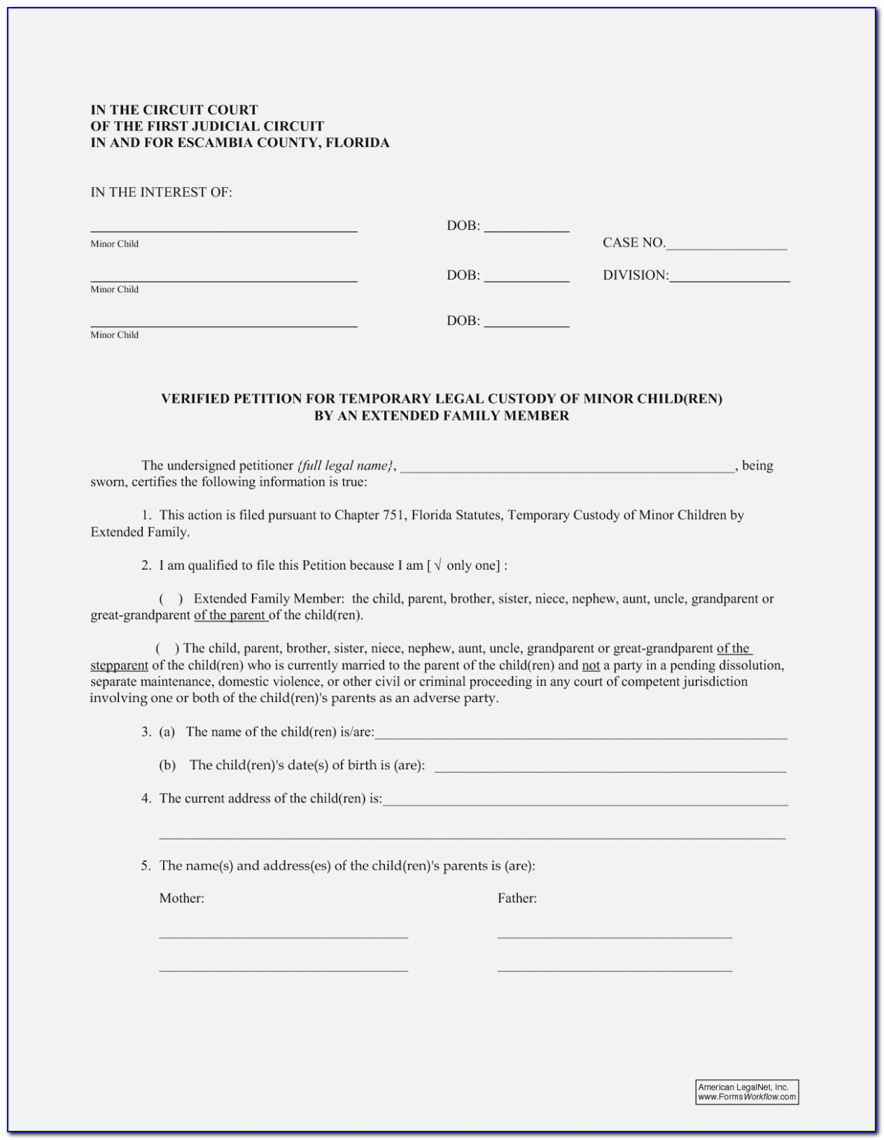 Family Law Self Help Free Legal Forms Child Custody Carson City Nevada State