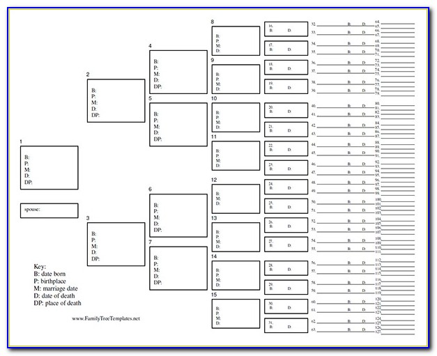 Blank Family Tree Chart 10 Free Excel, Word Documents Download Intended For Family Tree Chart Template