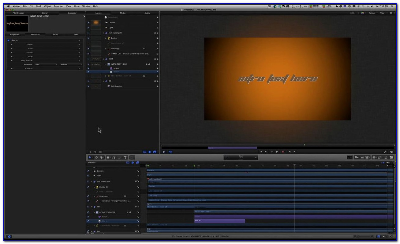 Fcpx Motion Template