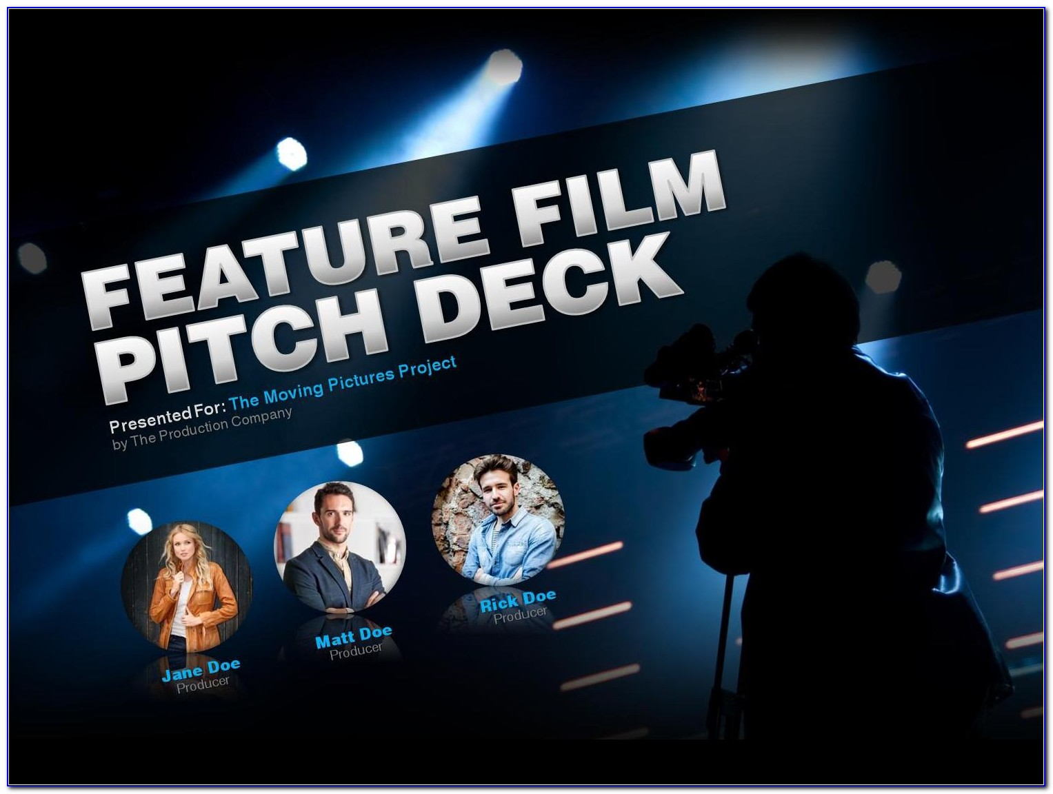 Feature Film Pitch Deck Template