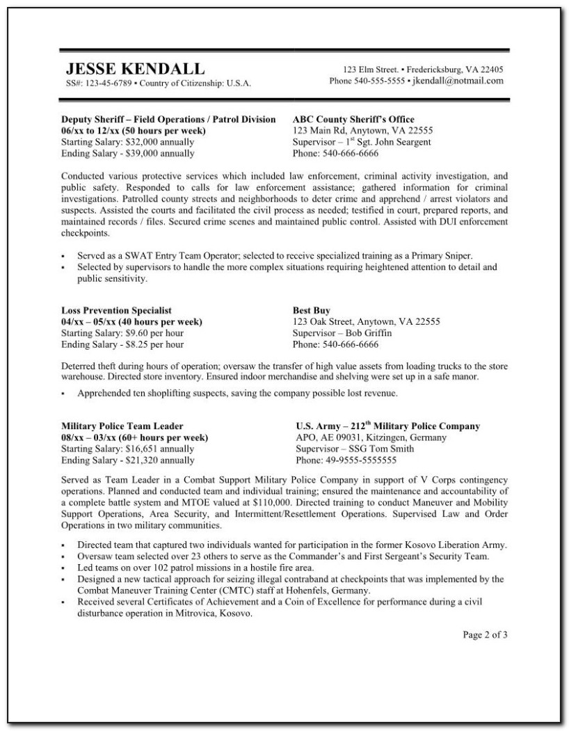 Federal Government Resume Writing