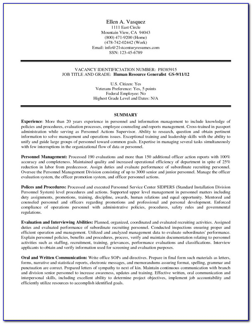 Military To Federal Career Guide 2nd Edition Page 21. Federal In Federal Resume Writing Service Template