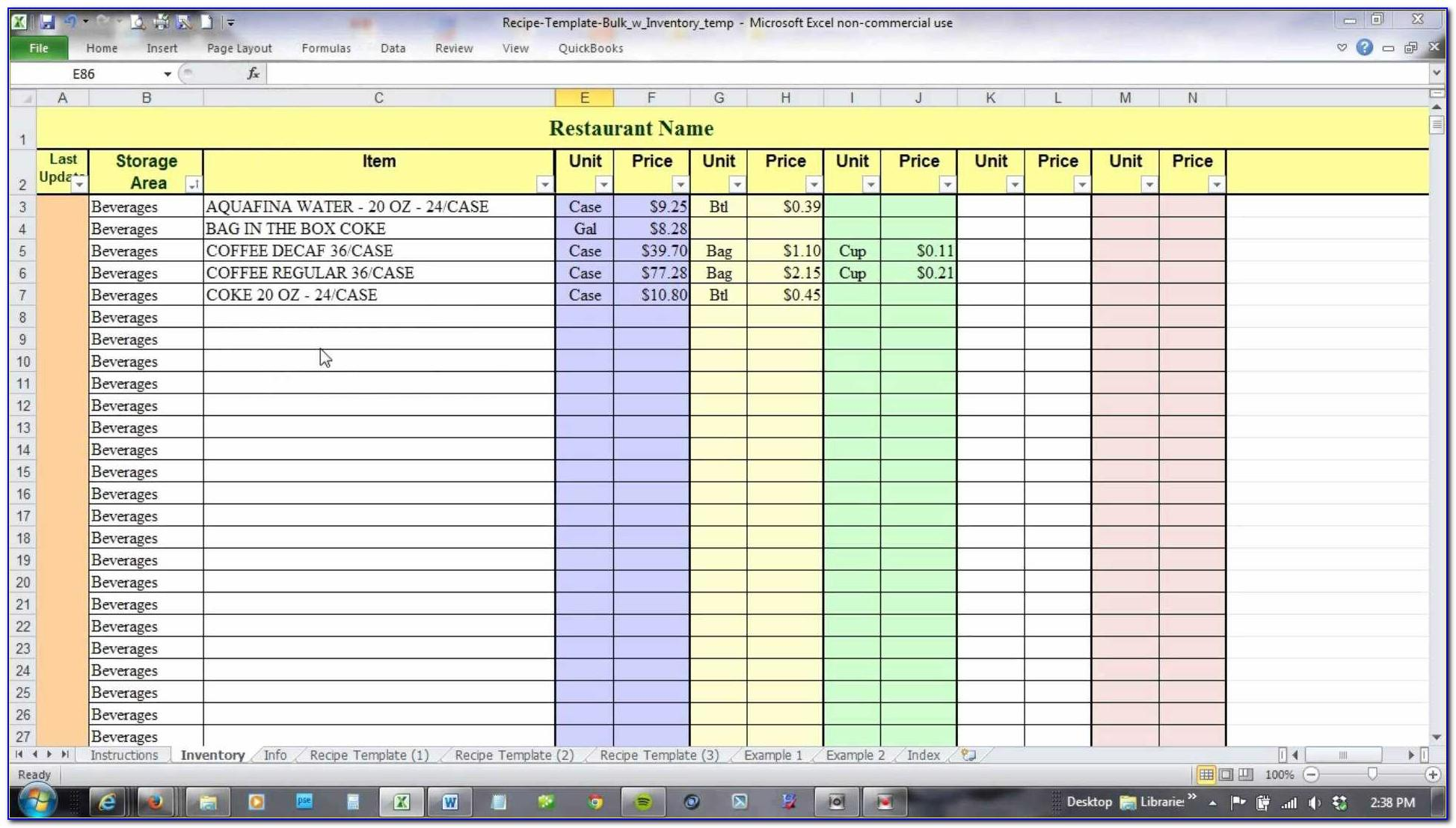 Fifo Inventory Tracking Excel Template
