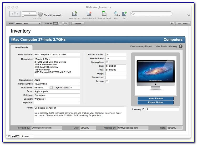 Filemaker Pro Templates Free