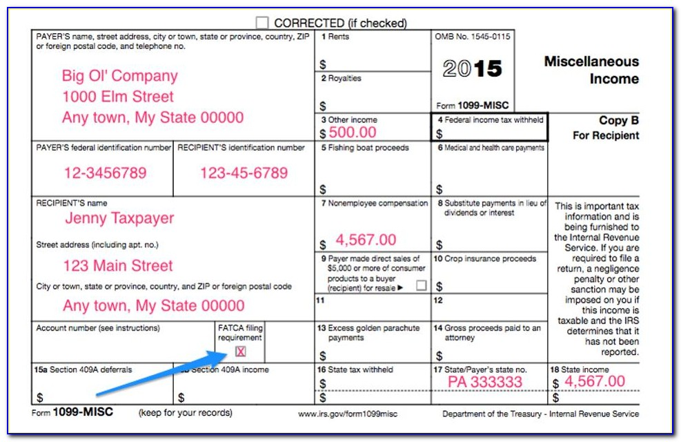 Fill In 1099 Form Free