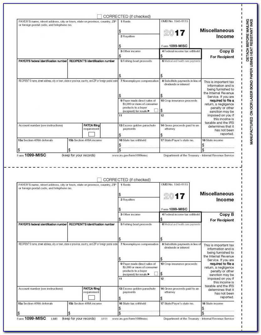 Fill In Form 1099 Misc 2015