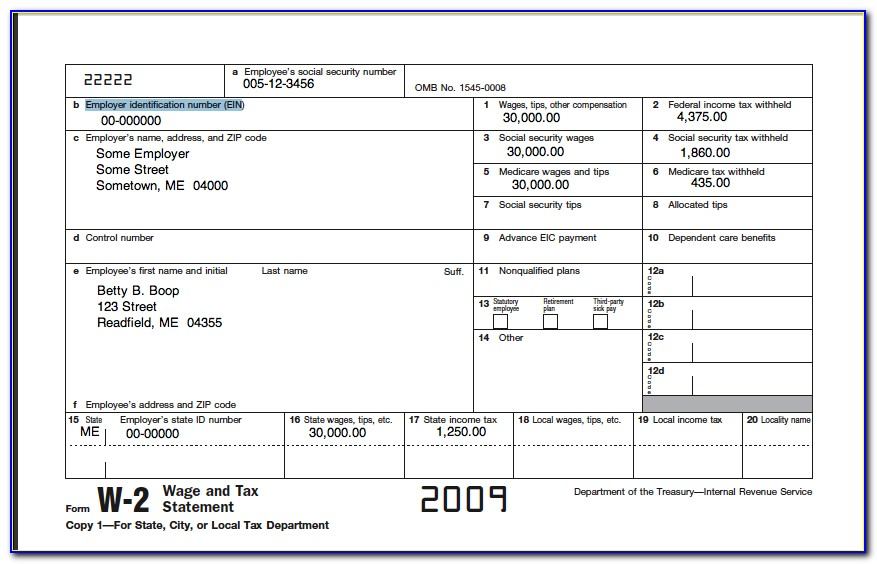 Fillable Form W 2 2016