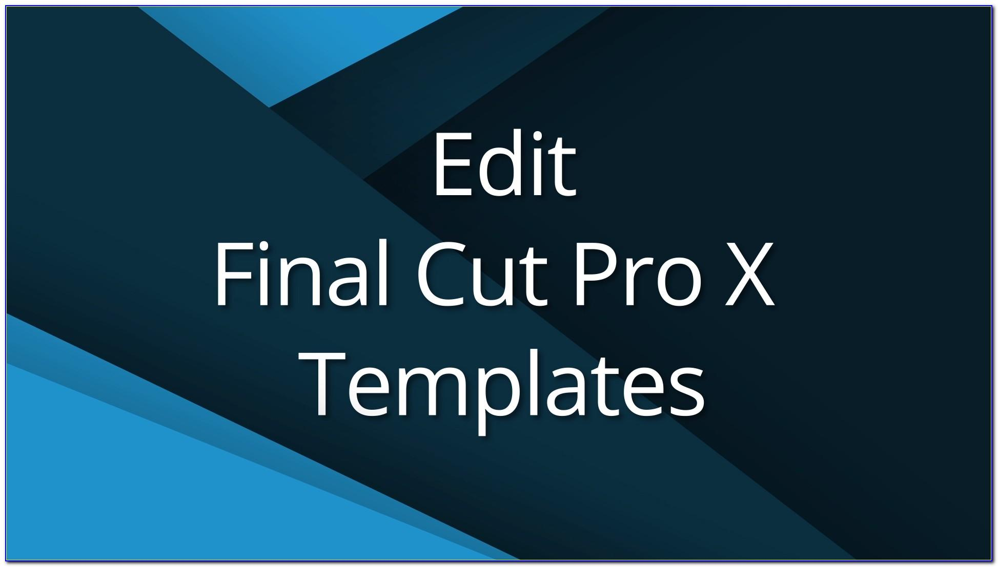 Final Cut Pro X Intro Templates Free Download