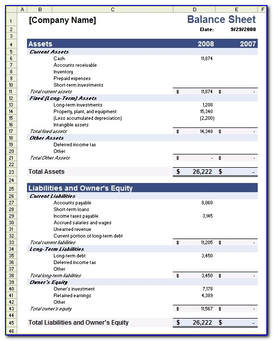 Sample Balance Sheet Template For Excel Non Profit Financial Statement Template Free 2016
