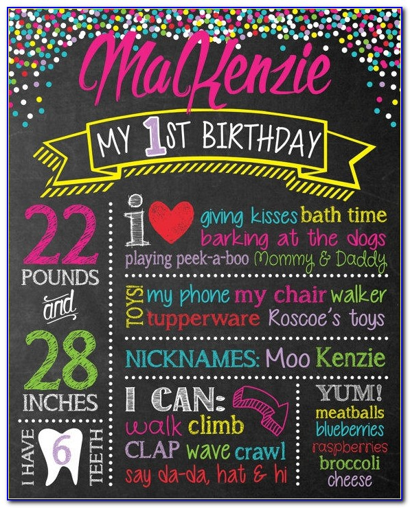 Best Chalkboard Poster First Birthday Products On Wanelo First Birthday Chalkboard Poster Template First Birthday Chalkboard Poster Template