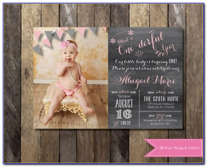 First Birthday Invitation Template Free Download