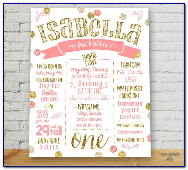 First Birthday Poster Template Free