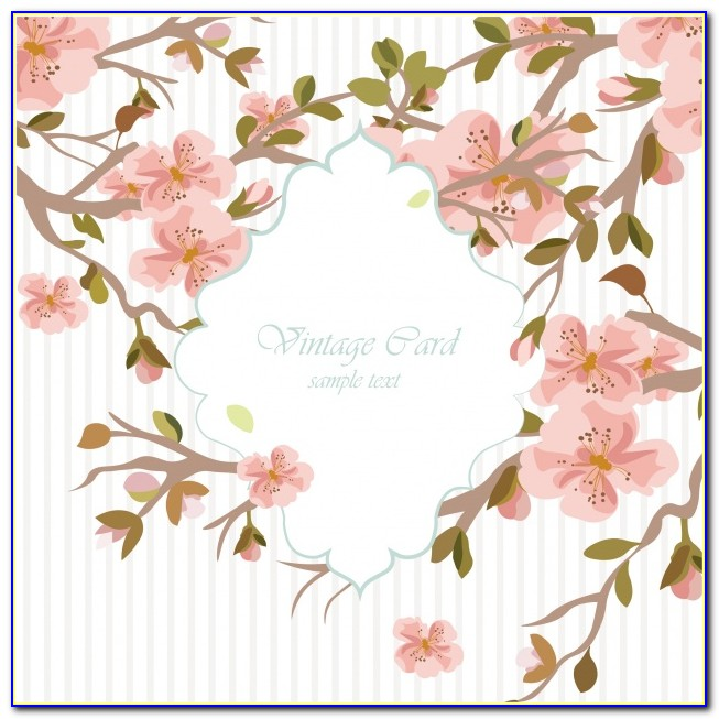 Floral Wedding Invitation Template Free Download