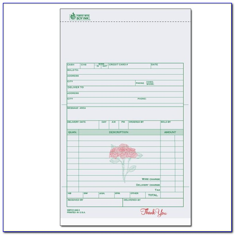 Flower Invoice Template