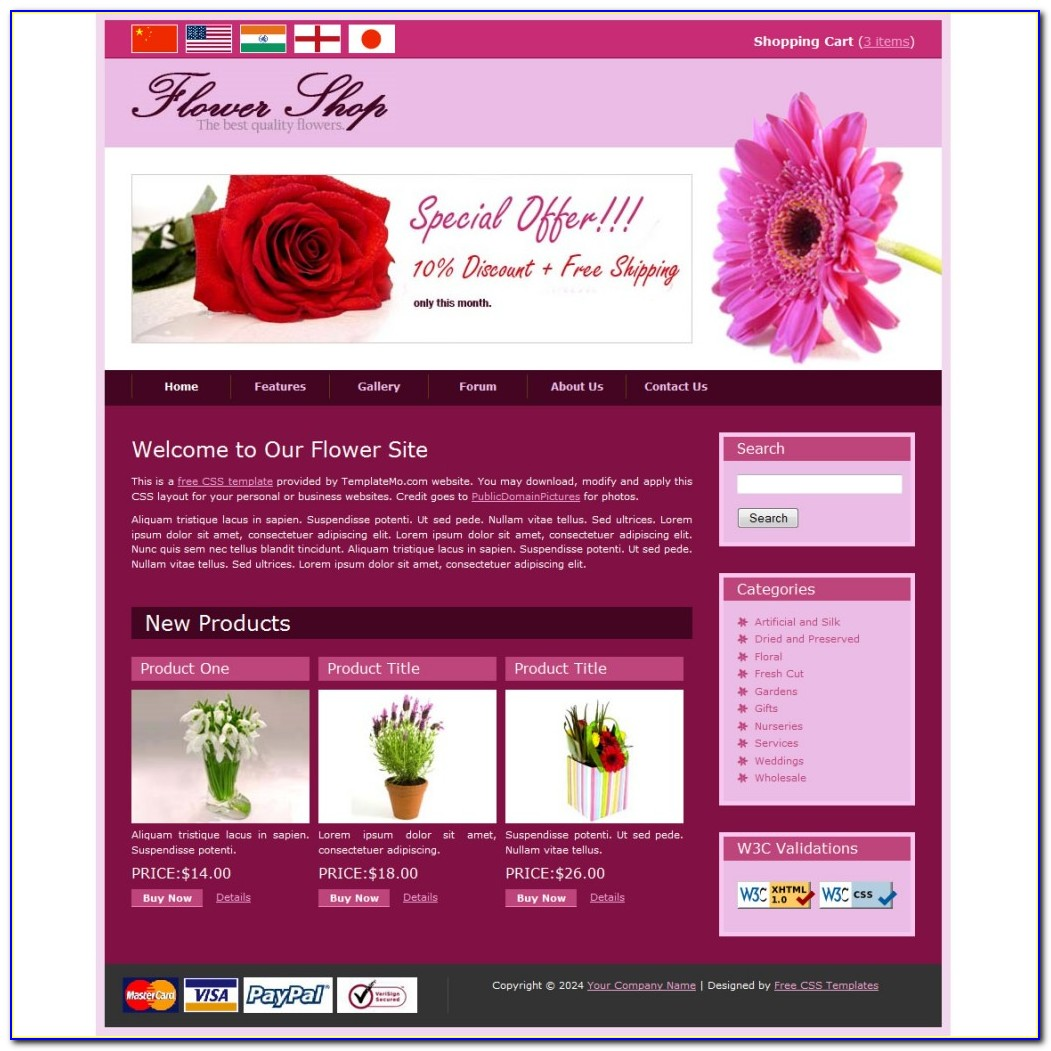 Flower Website Templates Free Download