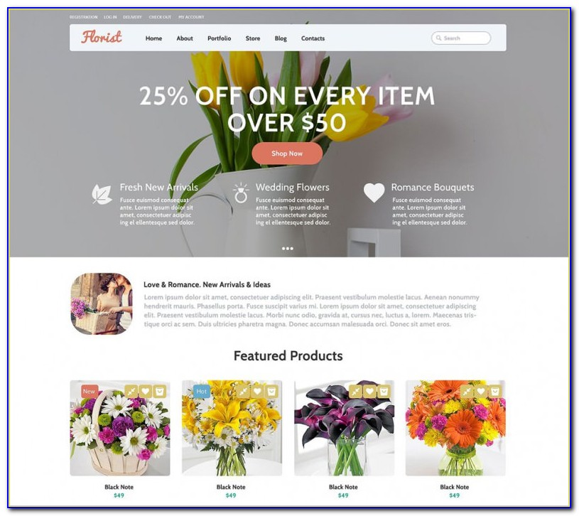 Flower Website Templates Free