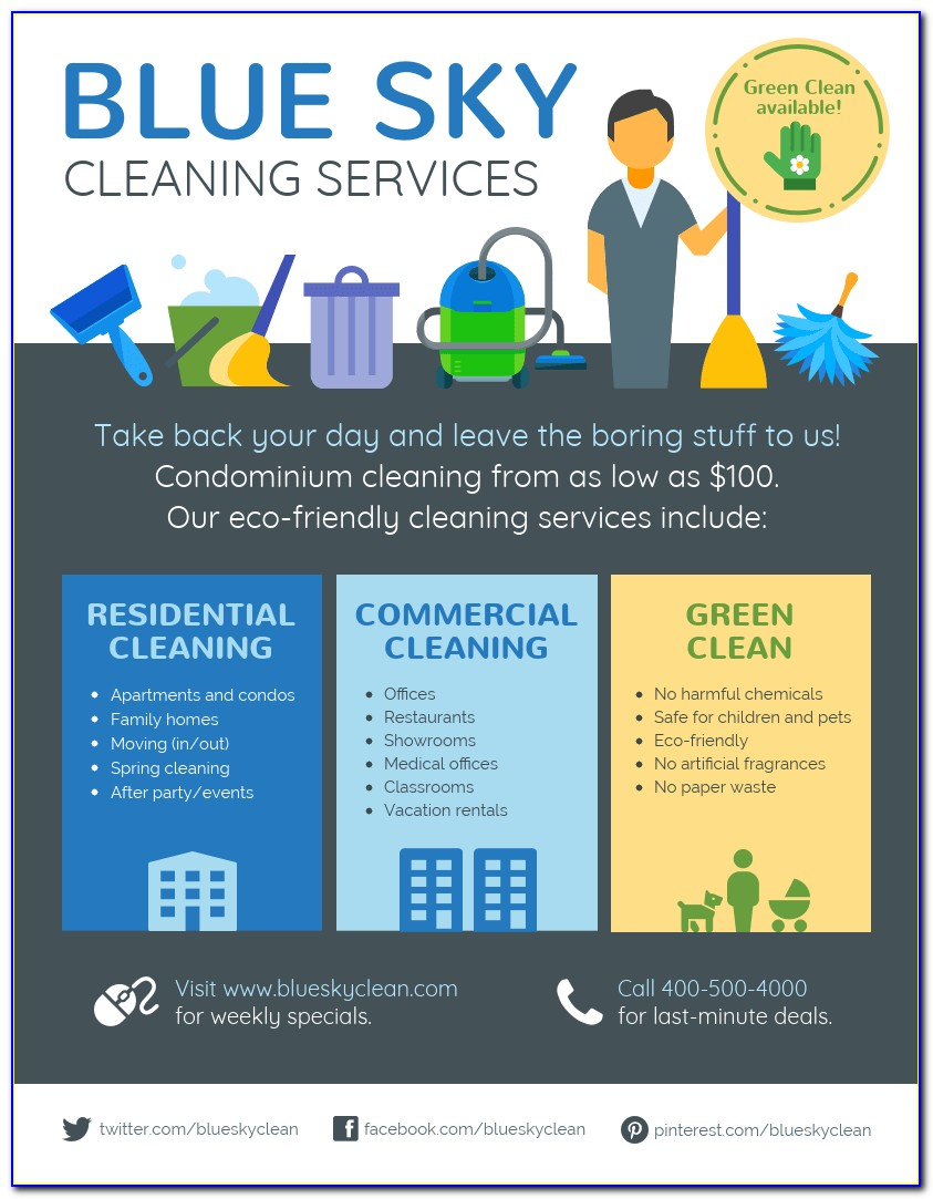 Flyers For A Cleaning Business