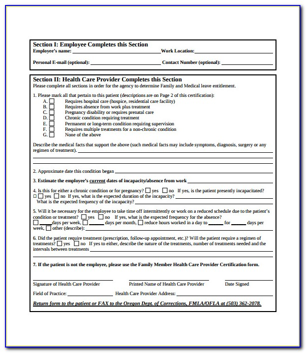 Fmla Paperwork For Employers