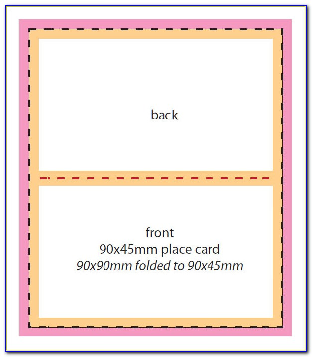 Foldable Name Card Template