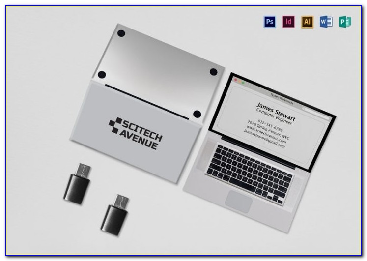 Folded Business Card Template Indesign