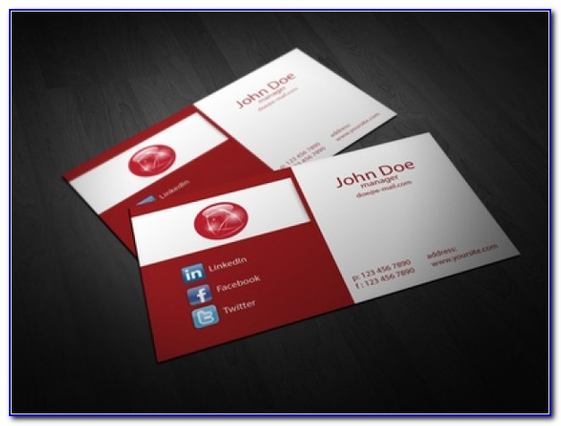 Folded Business Card Template Publisher