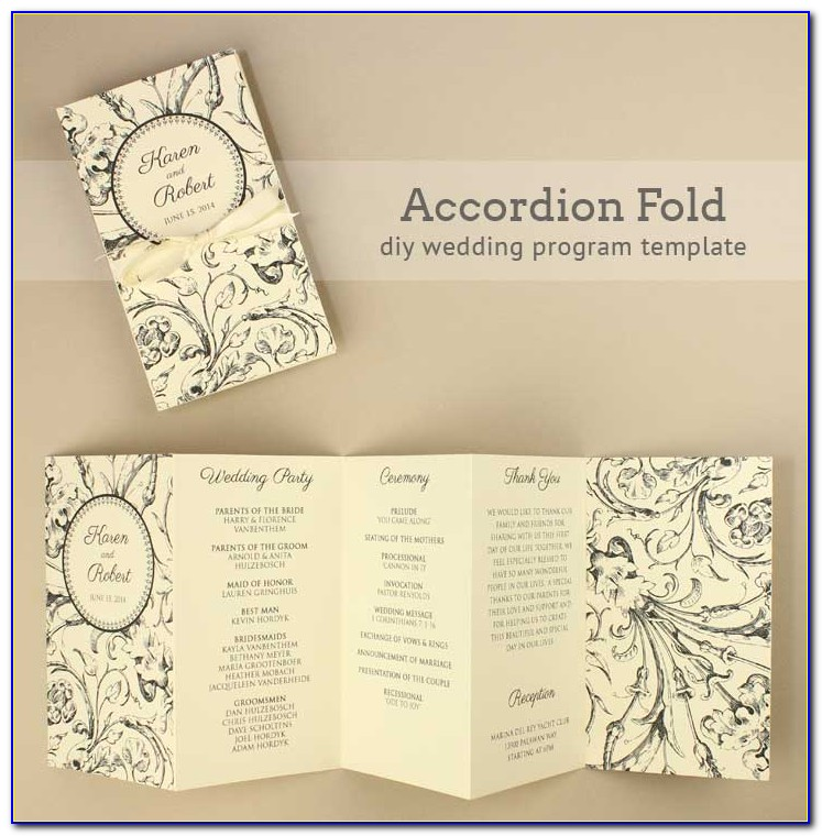 Folded Wedding Invitation Templates Free