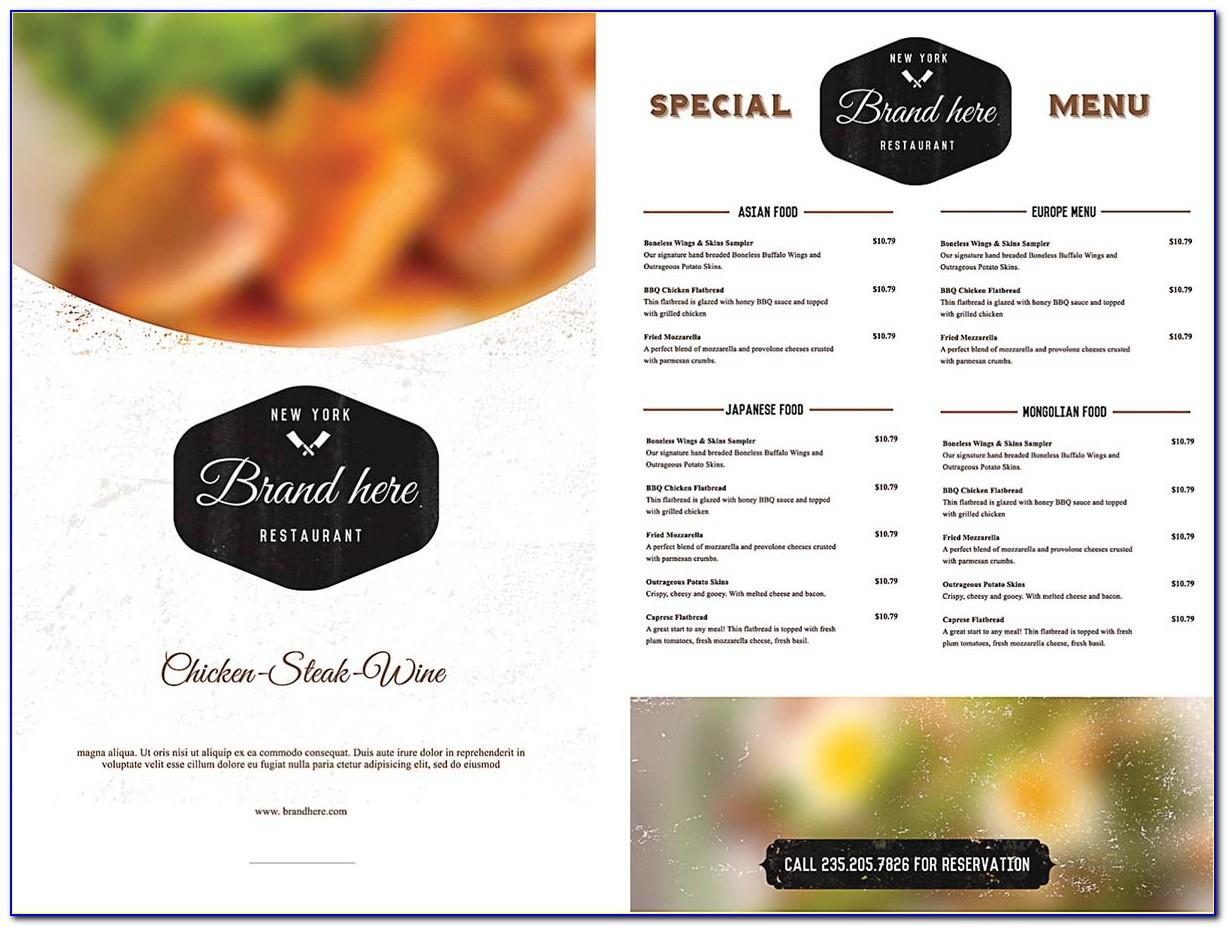 Food Menu Design Template Free Download