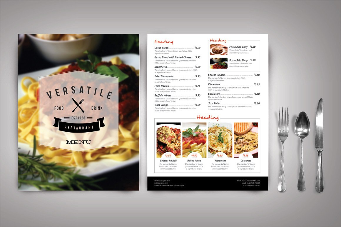 Food Menu Template Free Download Word