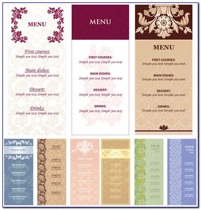 Food Menu Template Vector Free Download