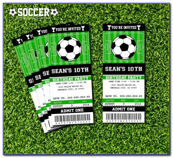 Football Ticket Birthday Invitation Template Free
