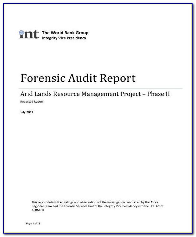 Forensic Audit Report Format In India