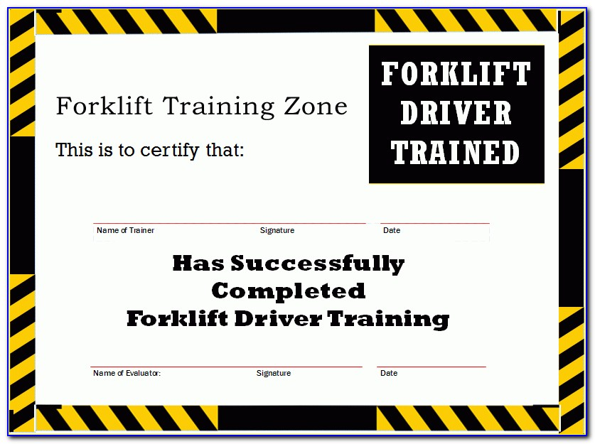 Forklift Training Template