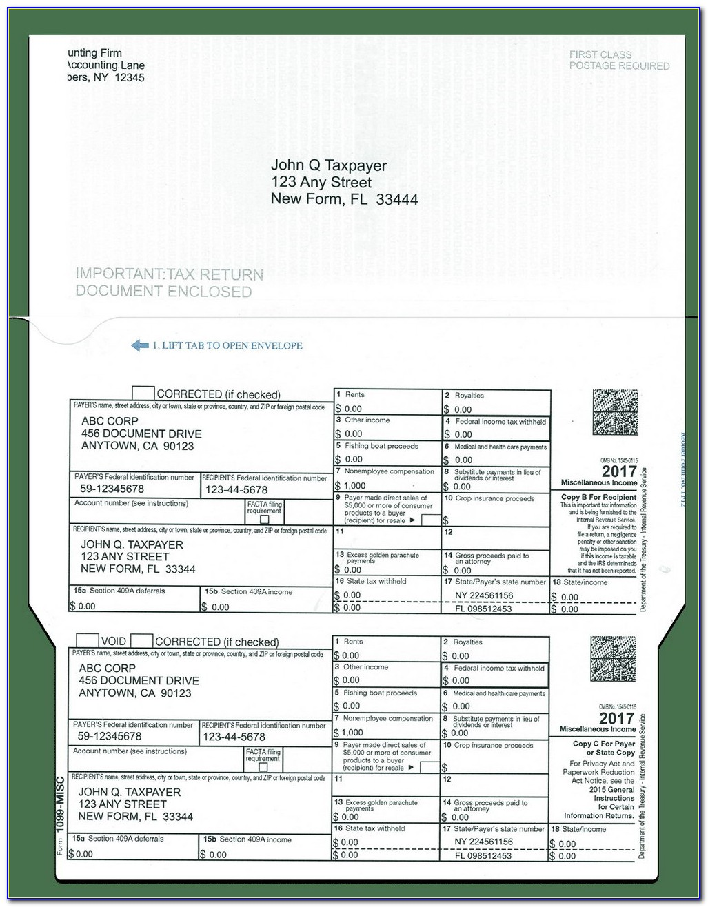 Form 1099 Misc Miscellaneous Income Download
