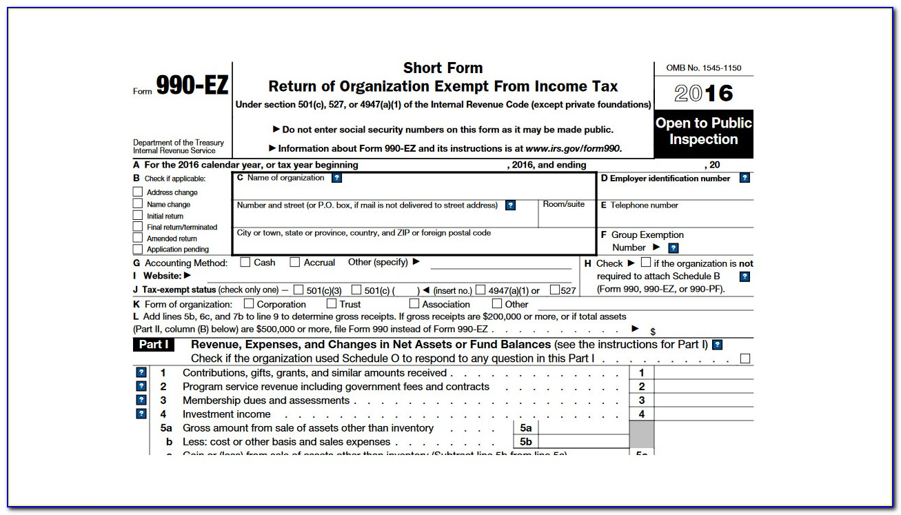 Form 990 Filing Instructions