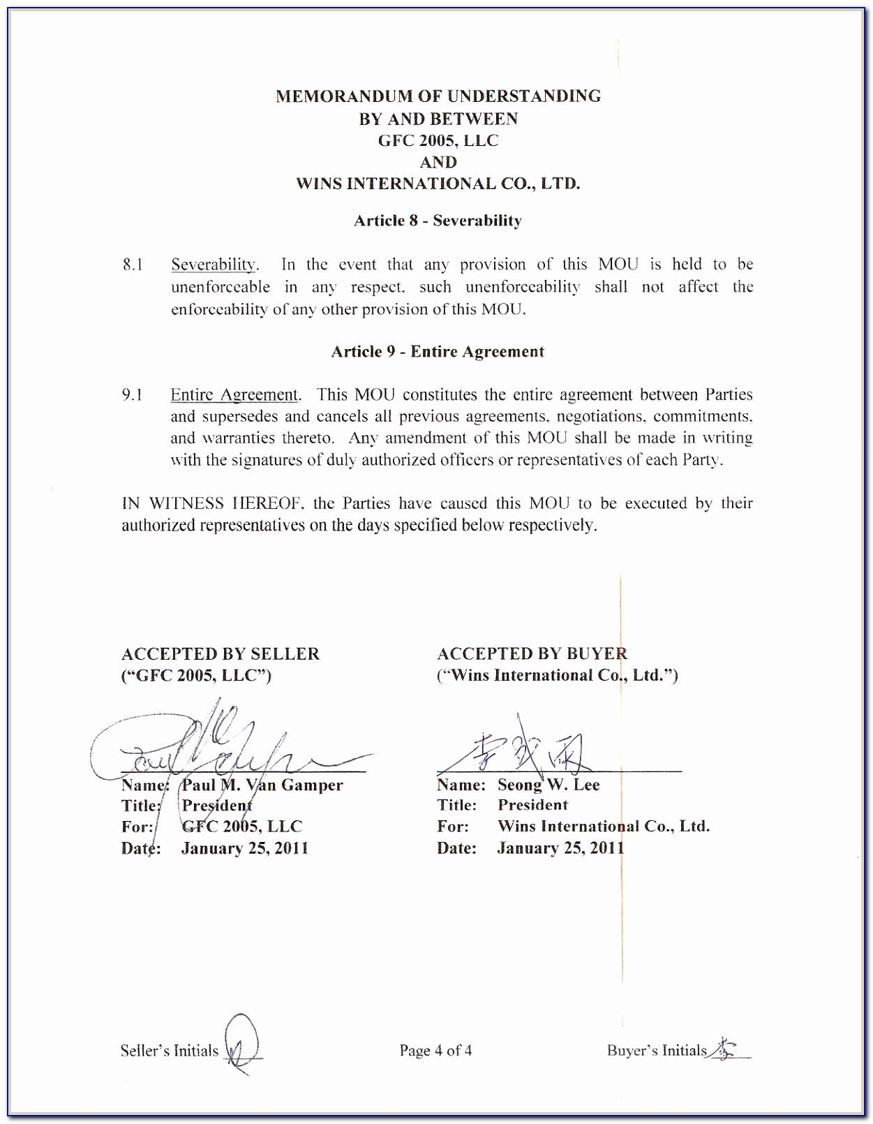 Form Joint Venture Agreement