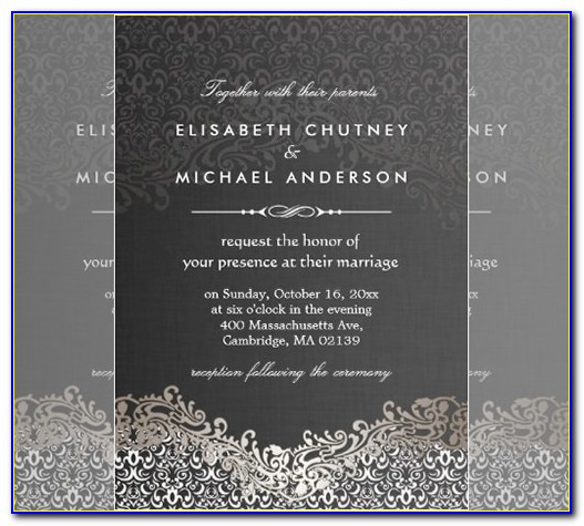 Formal Dinner Party Invitation Template Free