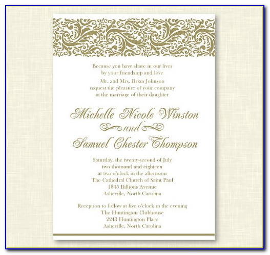 Formal Invitation Card Template Free