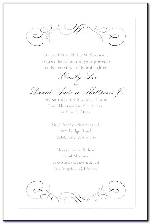 Formal Invitation Template Word Free