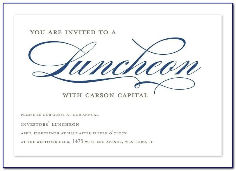 Formal Lunch Invitation Template