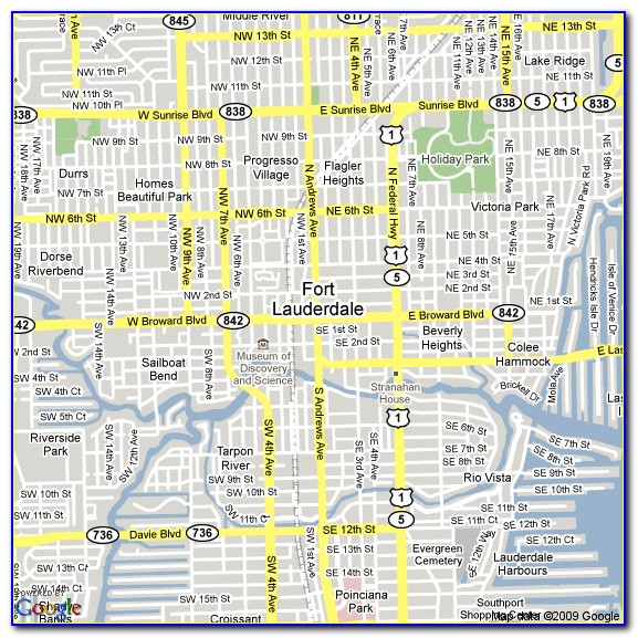 Fort Lauderdale Airport Hotels Map