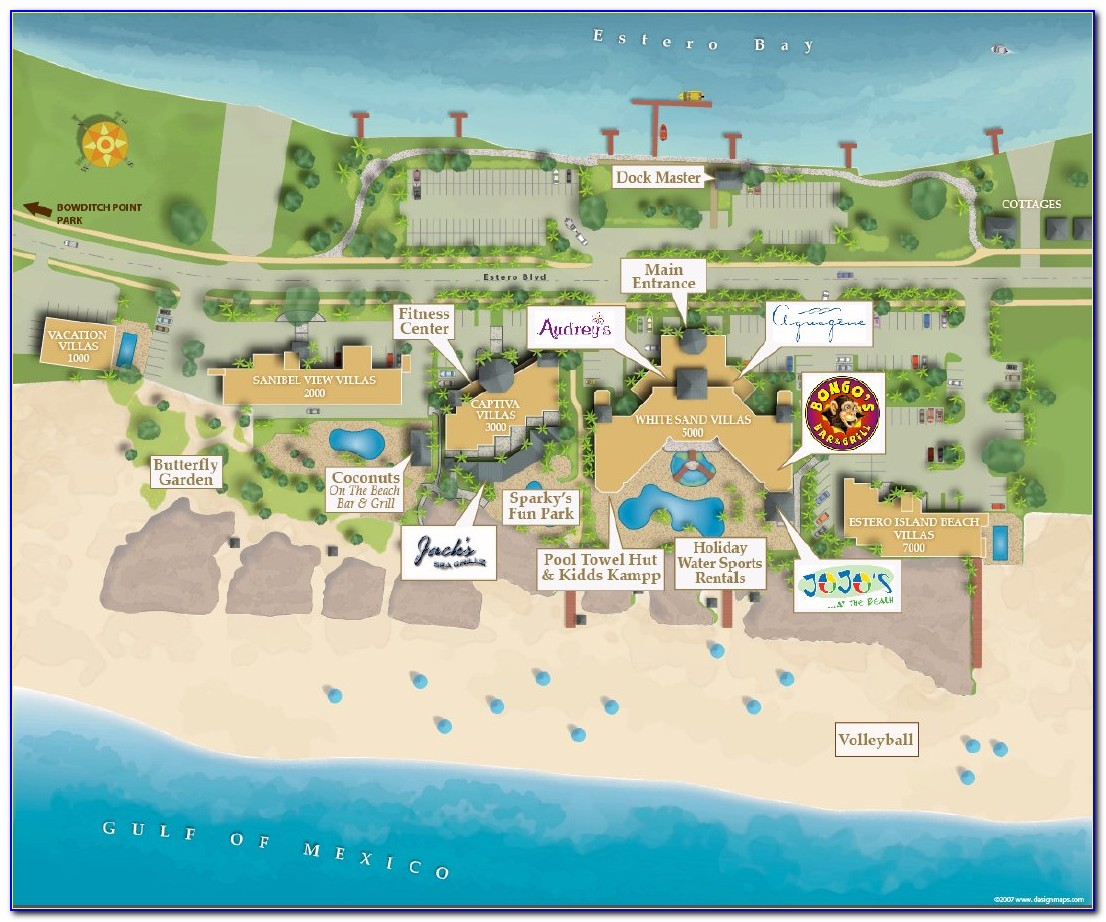 Fort Myers Beach Accommodations Map