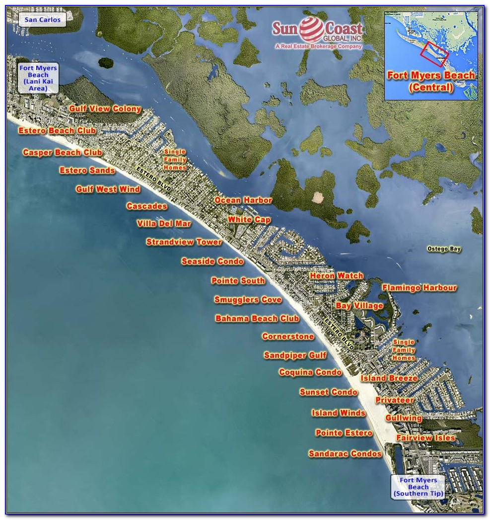 Fort Myers Beach Hotels Map