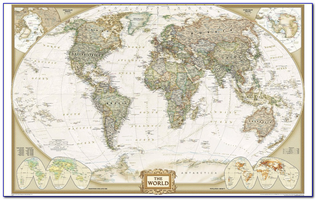 Framed Antique Maps Of The World