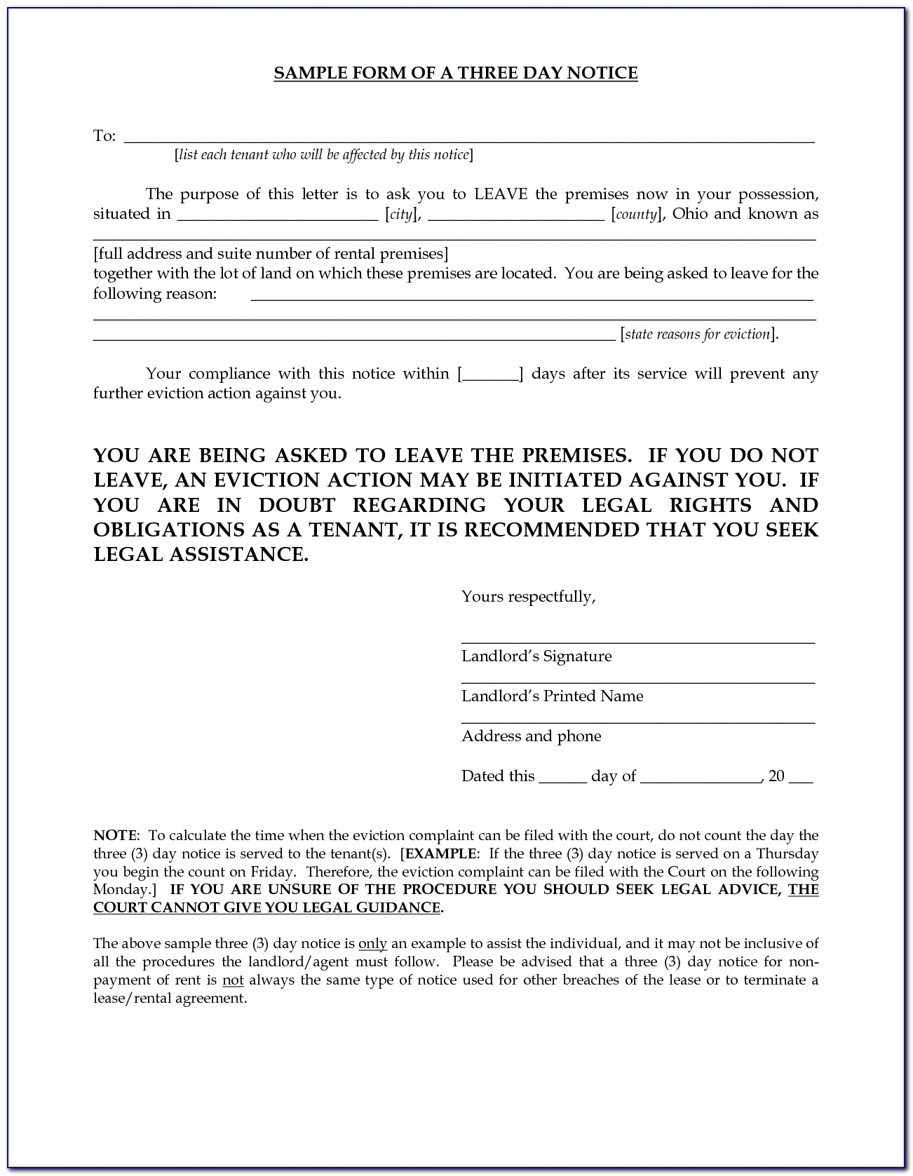 Franklin County Ohio Eviction Forms