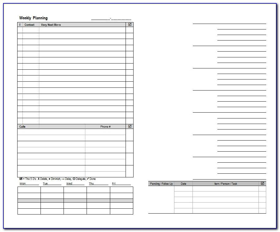 Franklin Covey Planner Templates Download