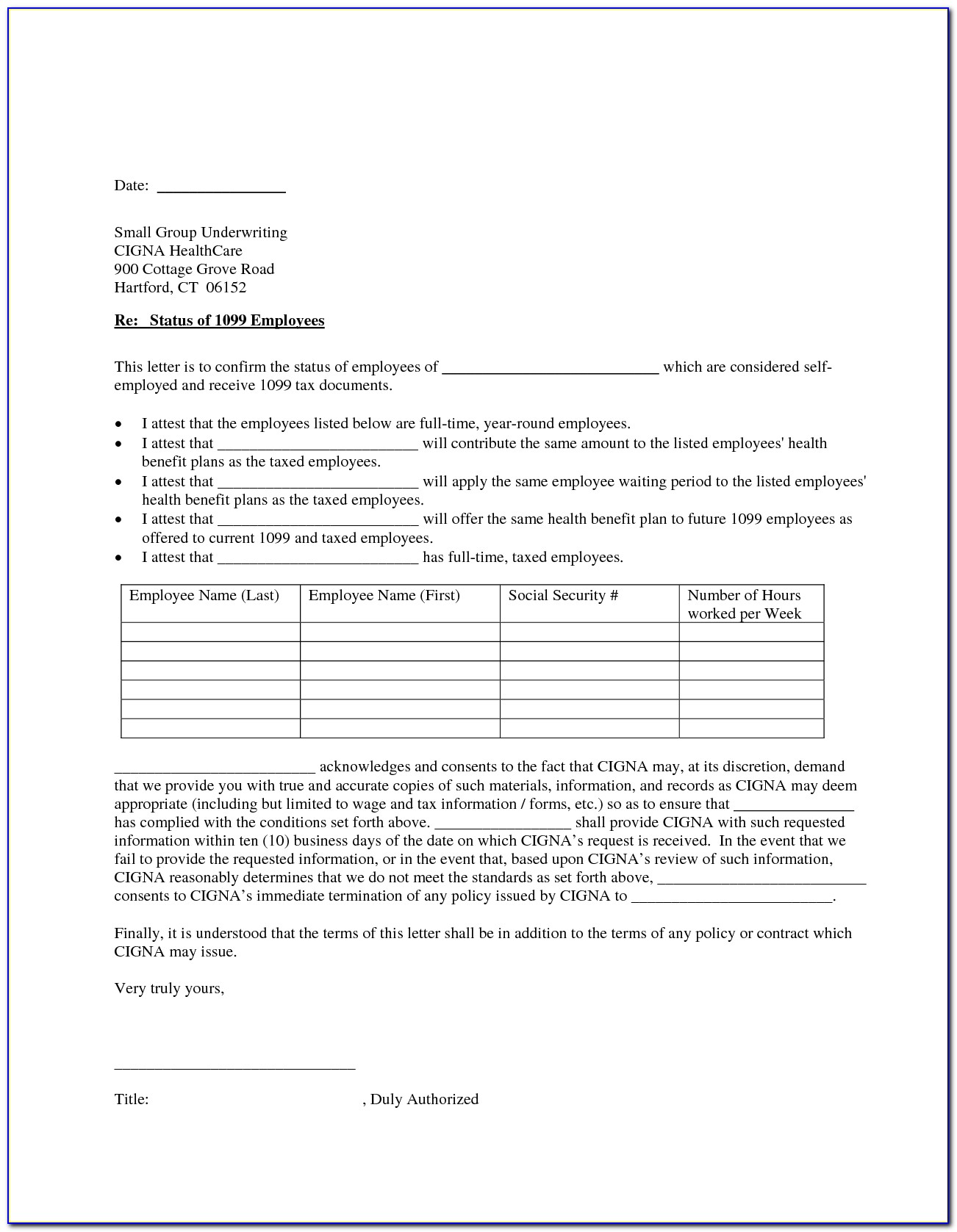 Free 1099 Employee Contract Template