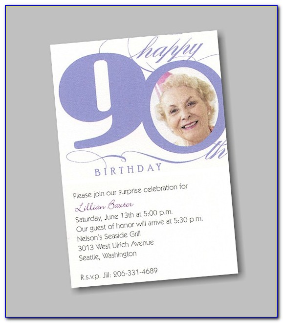 Free 90th Birthday Invitation Templates