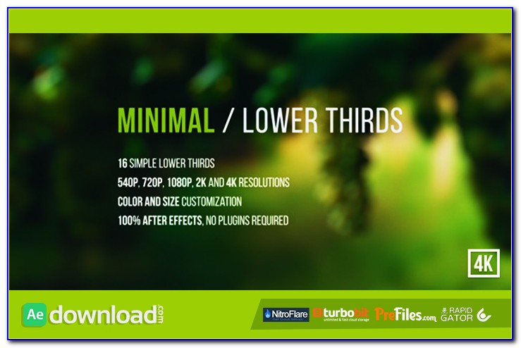Free Adobe After Effects Lower Third Templates